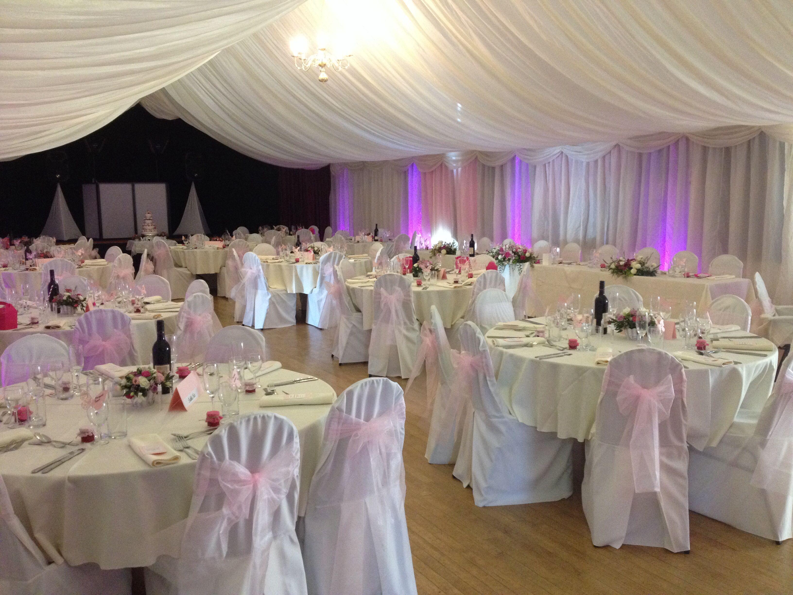 Pink and maroon wedding decor  Beautiful wedding decoration at hoverparishhall  Weddings