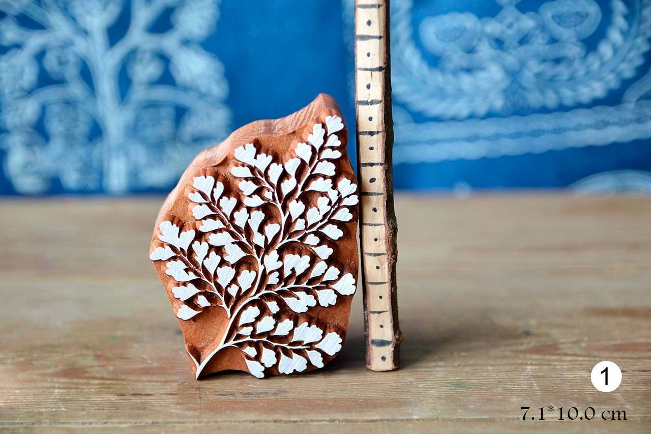 Cards Print Making Handmade Ethnic Crafts Leather Textile Leave Wooden Stamp For Block Printing Pottery Gift Idea.
