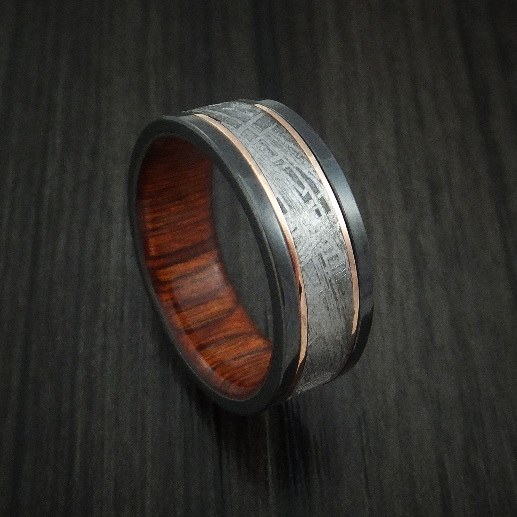 of dark glow damascus carbon elegant titanium hammered steel the made ring kuro band wedding and fiber best in custom width rings idea