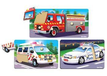 Tuzzles Emergency Vehicles Puzzle