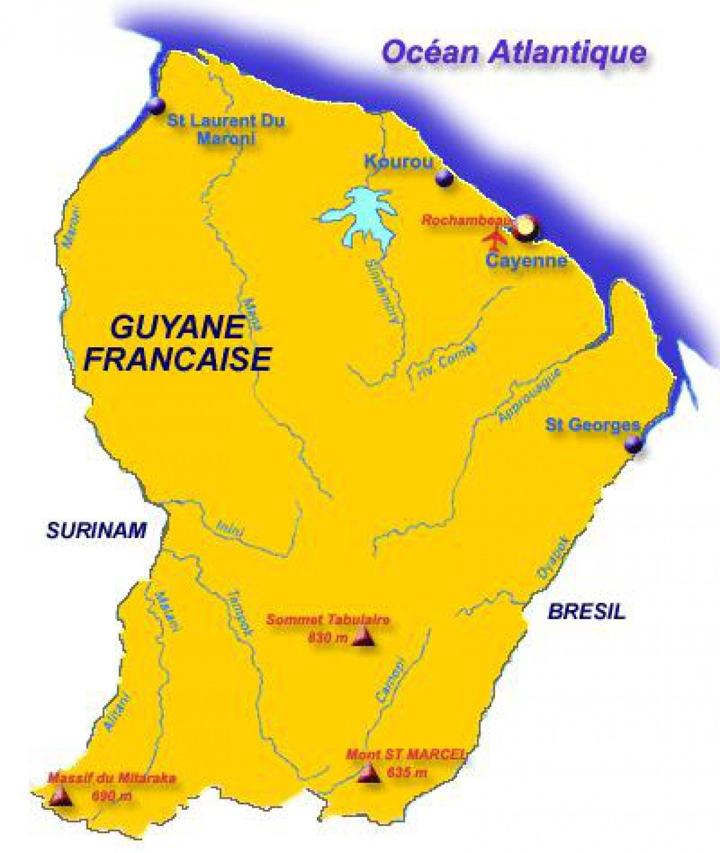 Carte Guyanela Guyane Est Une Région Française Située En