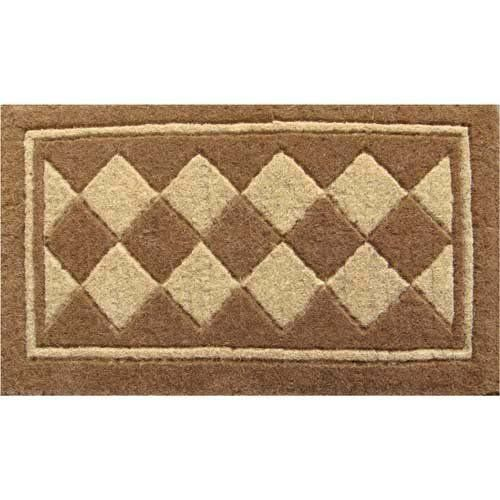 "Diamond Harlequin Hand Made Extra Thick Coir Doormat 18"" x 30"" by Imports Unlimited. $39.98. 888FMMT Size: 18"" x 30"" Features: -Technique: Woven.-Material: 100pct Natural coir.-Origin: India.-18'' x 30''.-18'' x 47''. Construction: -Construction: Handmade. Dimensions: -Pile height: 1.5''. Collection: -Collection: Coir."