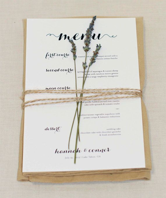 Wedding Menu Could Very Easily Diy Med Billeder Bryllup Menu Bryllup Dekoration Bryllup
