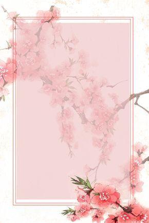 Brief Art Flower Poster Background