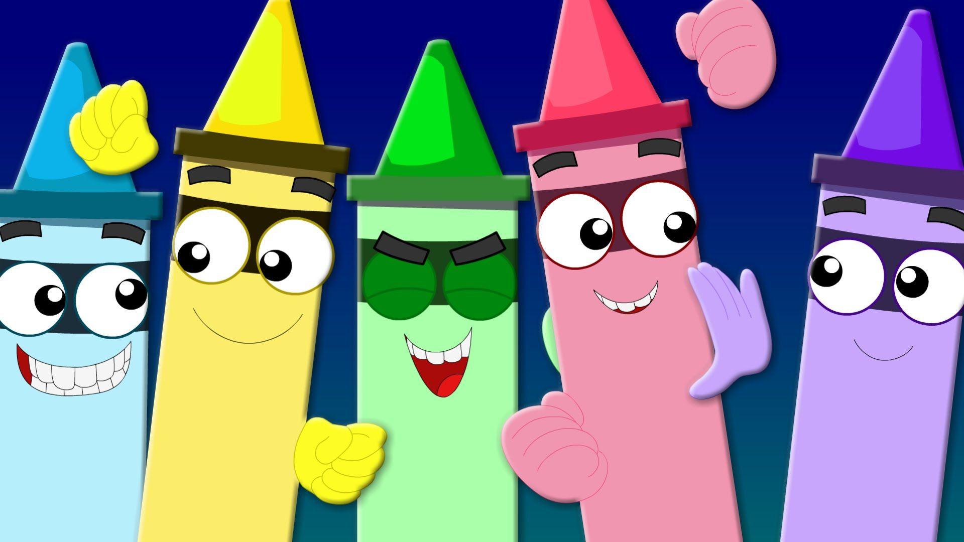 Crayons Colors Song   Learn Colors   Nursery Rhymes   Kids Songs ...