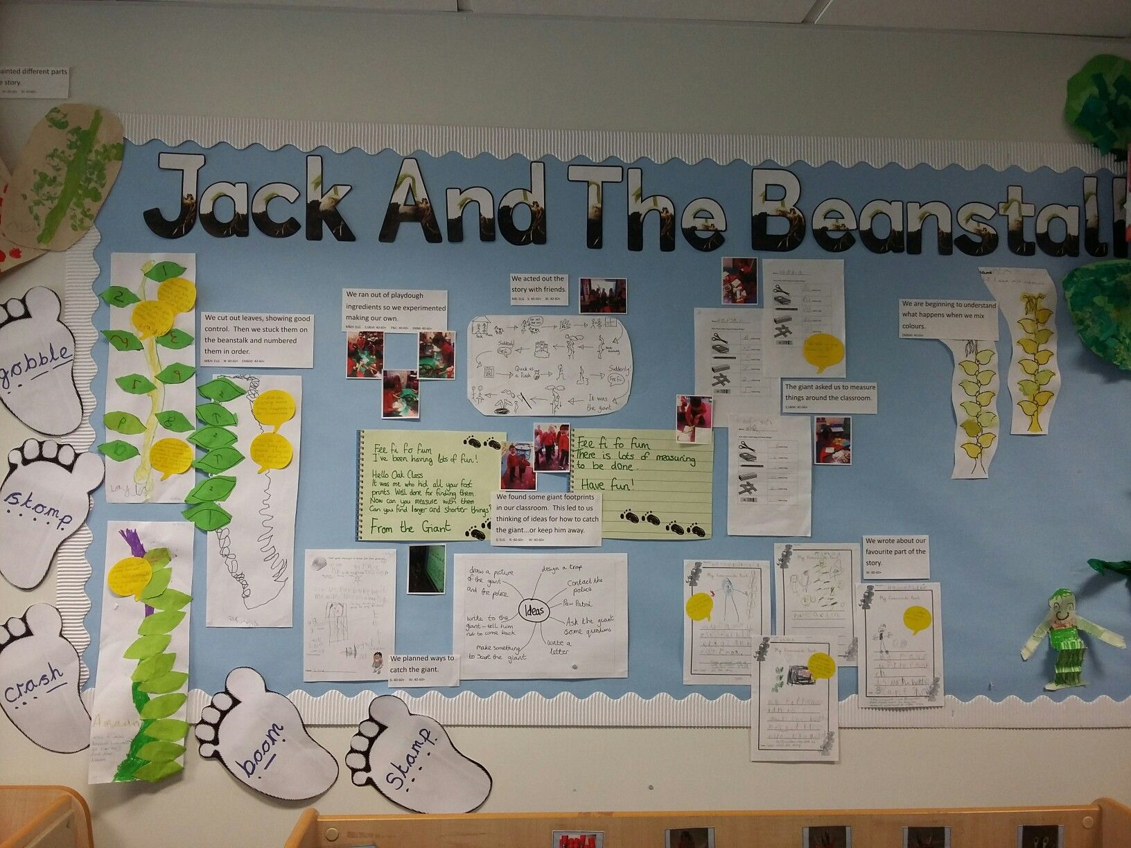 Jack And The Beanstalk Display In Eyfs Reception Class