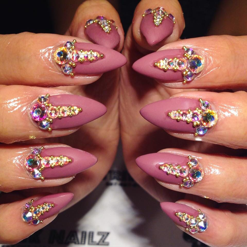 Pretty in pink   Nails nails nails   Pinterest   Coffin nails and ...