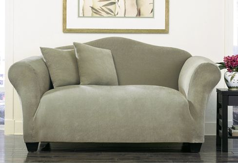 Enjoyable Stretch Pique One Piece Chair Slipcover House Redecorating Alphanode Cool Chair Designs And Ideas Alphanodeonline
