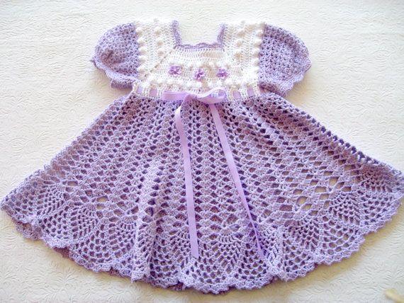 Crochet Pattern For Baby Girl Dress Pdf 12 007 Instant Download