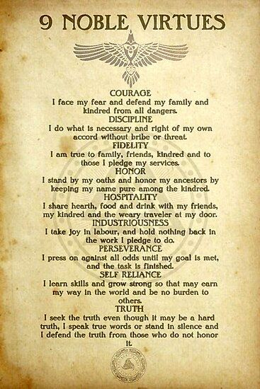9 Noble Virtues Photographic Print by FantasySkyArt