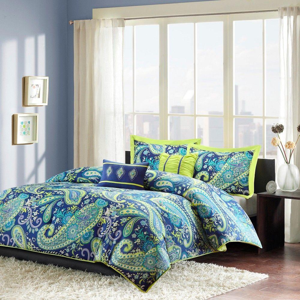 Maya 5 Piece Comforter Set Purple Full Queen Purple Sta