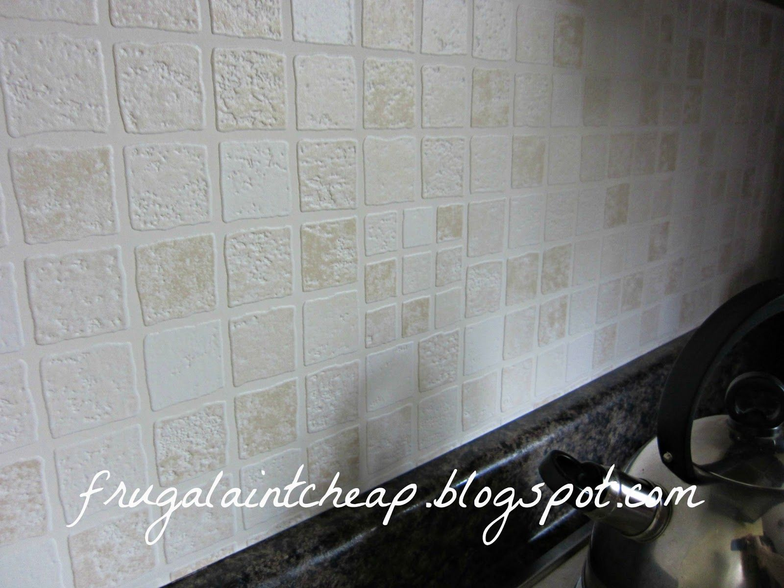 Kitchen Backsplash (great for renters too) Faux tiles