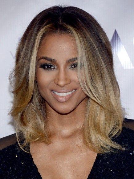 medium ombre Ciara hair hairstyle