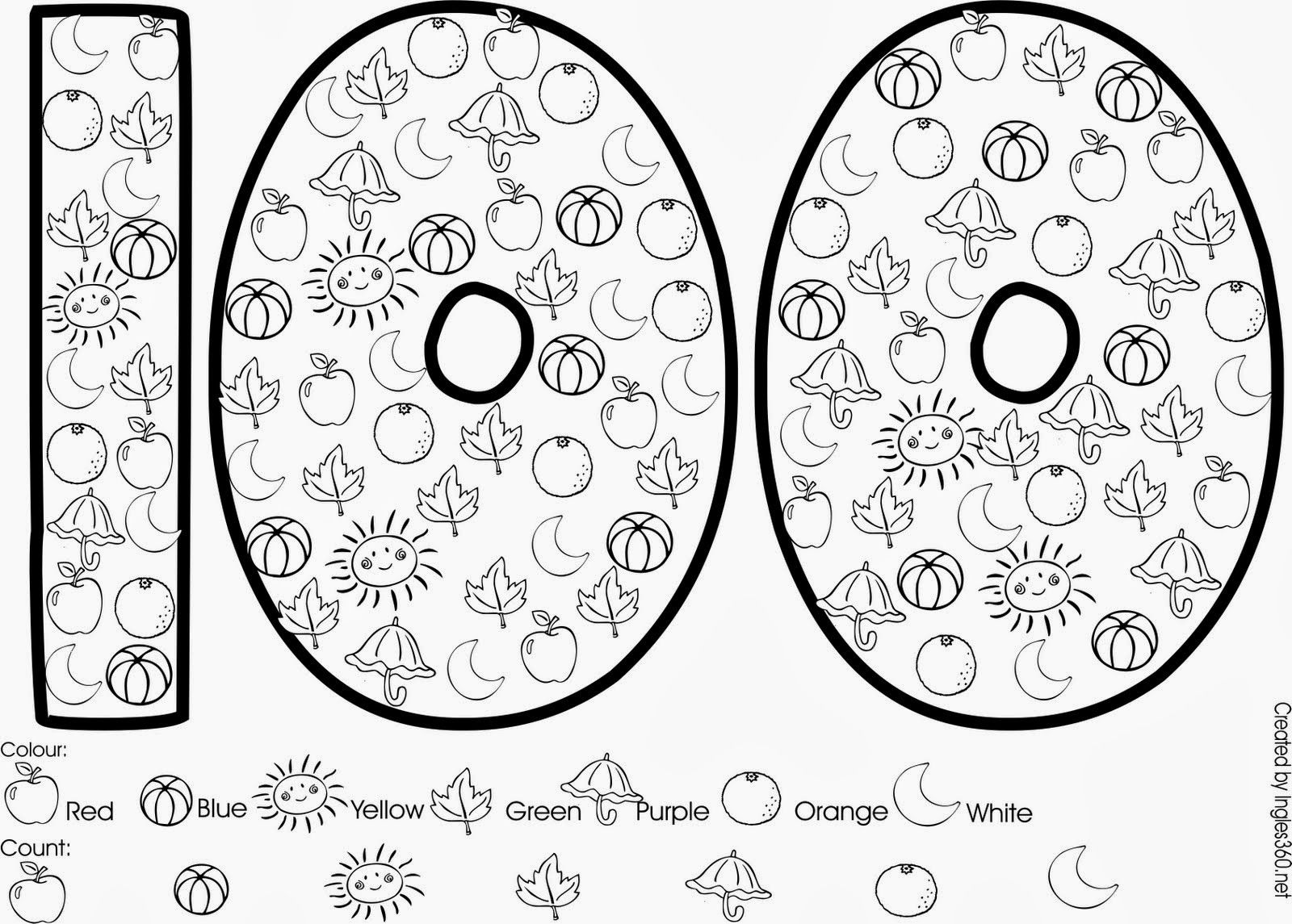 - 100 Day Practice Challenge (With Images) School Coloring Pages