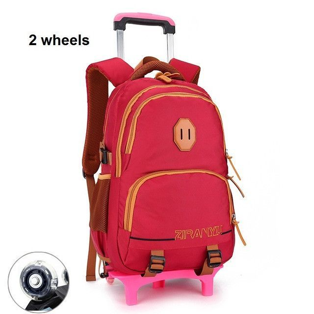 Fashion Girls Children School Bags Boys Trolley Bag With Wheels Kids ...