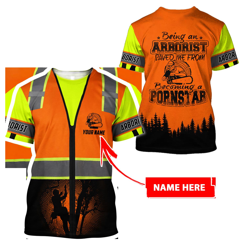Arborist saved me 3d unisex hoodie - T-shirt / L