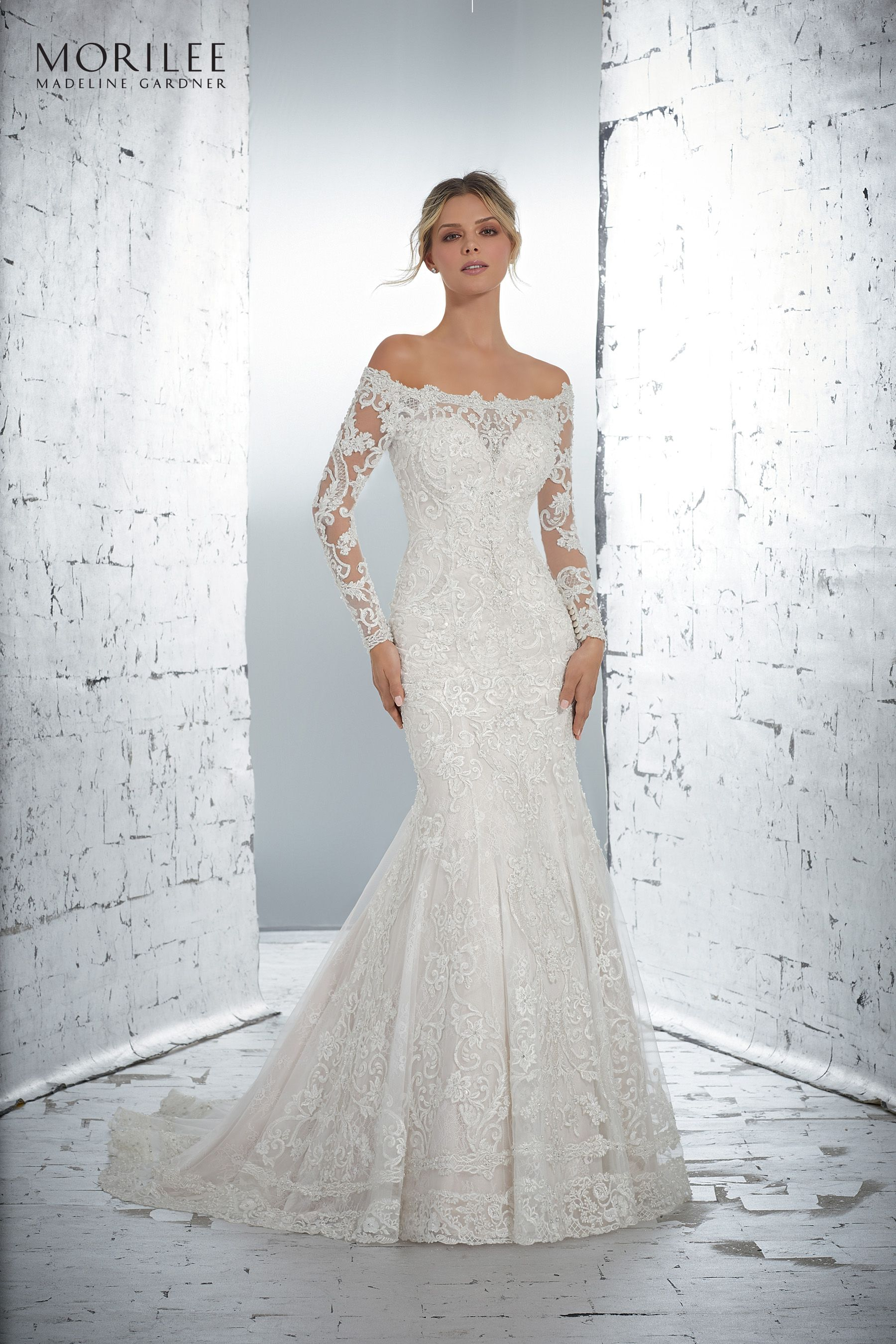 Morilee uk lysandra wedding dress style classic long sleeve