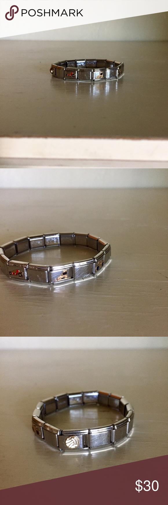 Sports Themed Italian Charm Bracelet