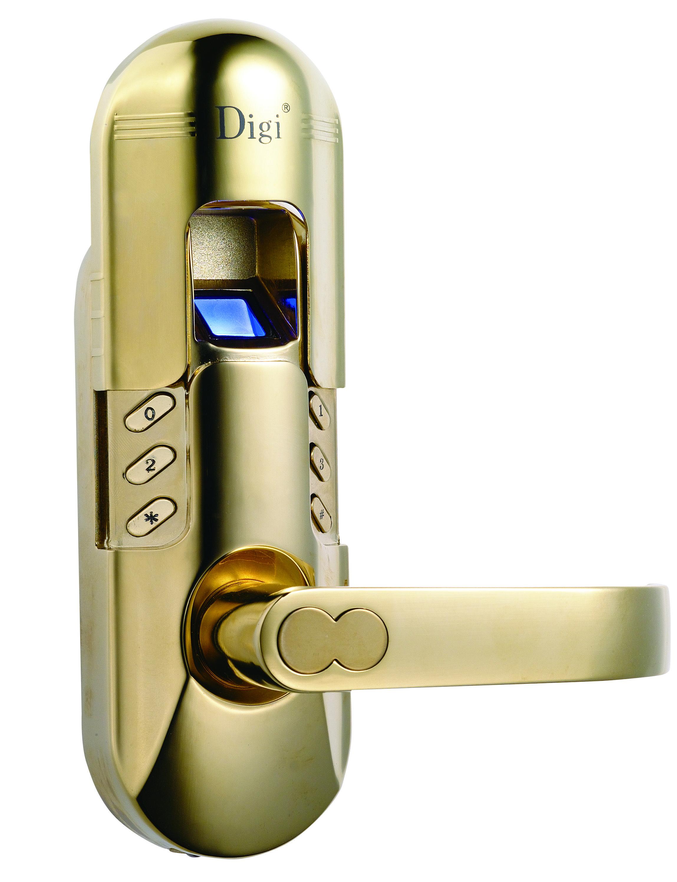 pvd goldspecial color requirement accepted fingerprint door lock keypad lock digi