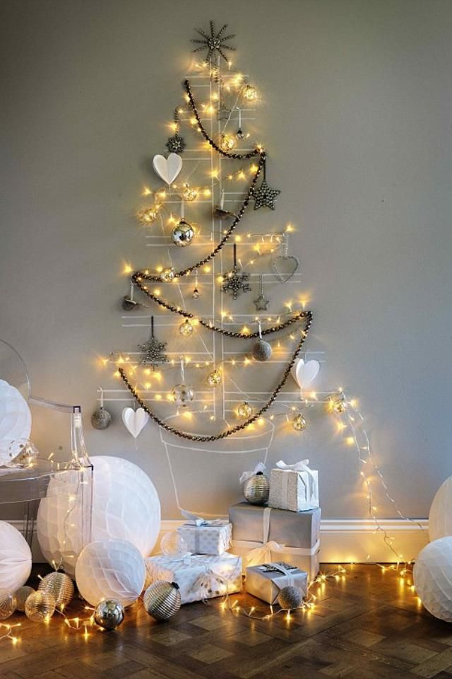 40 DIY Alternative Christmas Trees Adding Fun Wall Decorations to Green  Holiday Decor