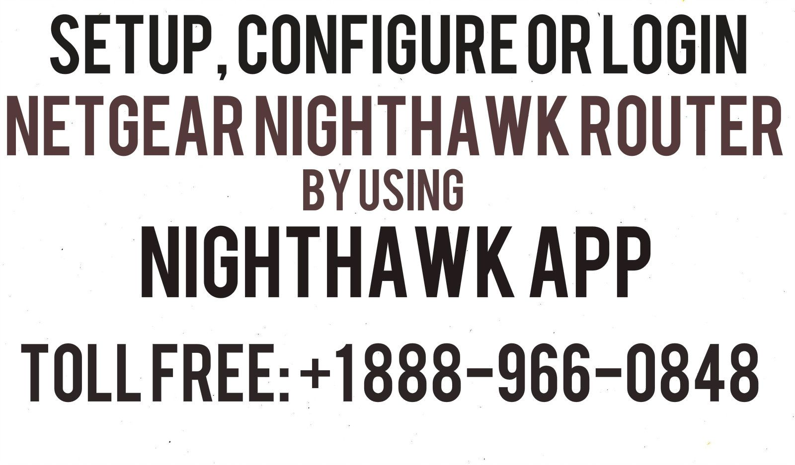 Nighthawk App is the application launched by the Netgear
