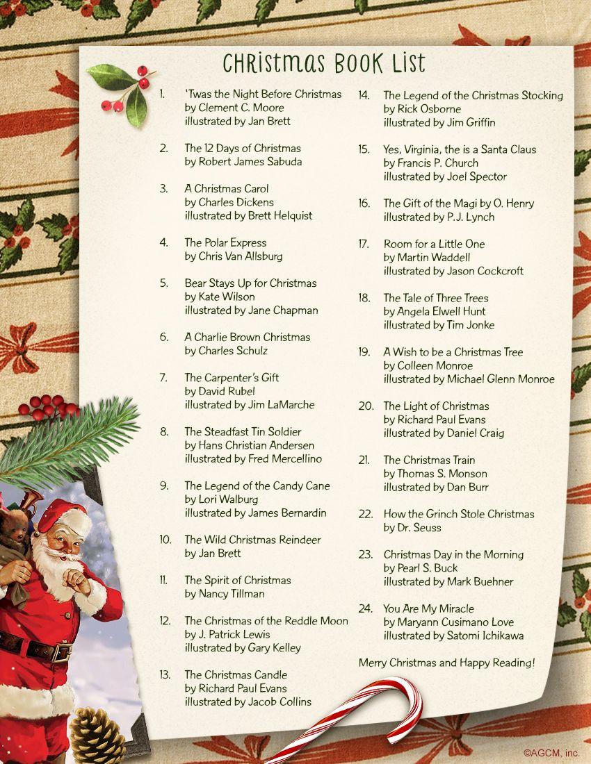 List of the Best Christmas Books for Kids Christmas