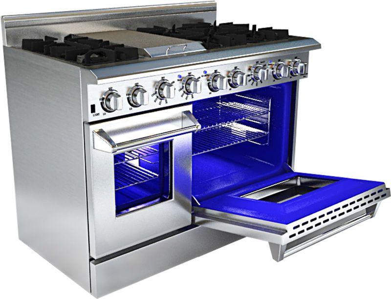 Kitchen appliances double oven gas range hrg4804u gas