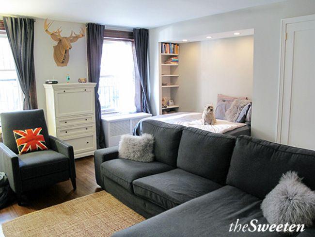 Estudio brooklin despu s apt ideas decoraci n de unas for Diseno de interiores para apartamentos pequenos