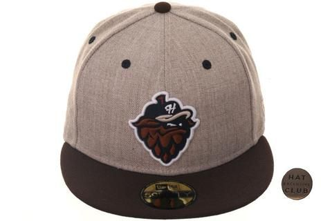 8933d600512 Hat Club Exclusive New Era 59Fifty Hillsboro Hops Fitted Hat- 2T Oatmeal  Heather