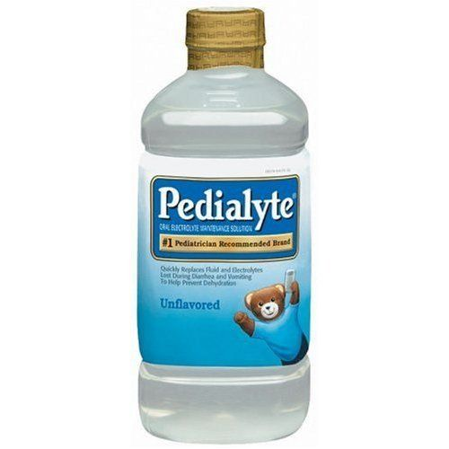 """I'm in nursing school and thought I""""d share the recipe on how to make DIY pedialyte.     Ingredients  2 quarts water  1 tsp baking soda  7 teaspoon sugar  1 packet unsweetened Kool-Aid powdered drink mix (optional)  ½ teaspoon salt substitute (optional)  Mix all together well & store in fridge for no more than 3 days.  make into Popsicles/ice cubes for something fun.  makes 2 Q"""