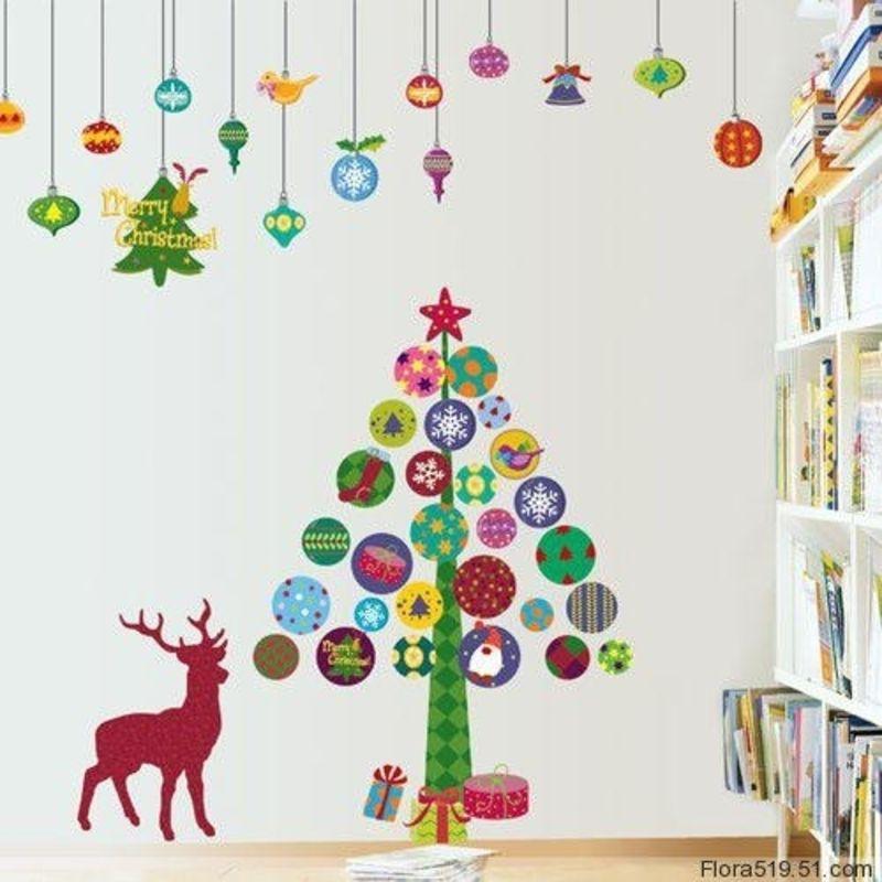 Christmas Tree Wall Stickers Christmas Wall Hangings Wall Christmas Tree Christmas Wall Decor
