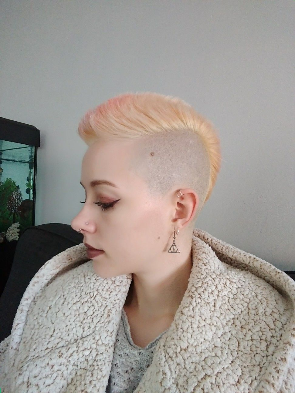Blonde mohawk hair styles pinterest mohawks blondes and hair