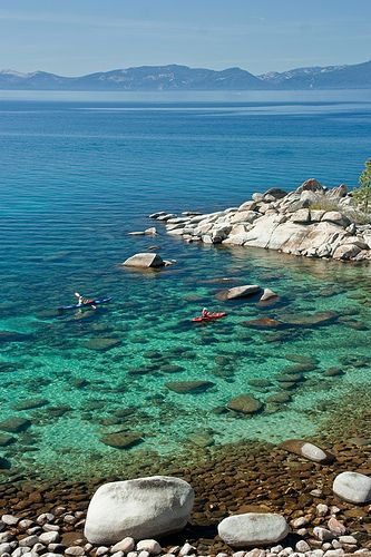 Kayakers Near Hidden Beach Lake Tahoe Want To Take Our Son There