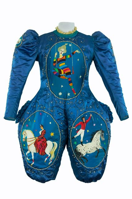 Circus costumes belonging to François & Annie Fratellini~Image via the National Center of Costumes