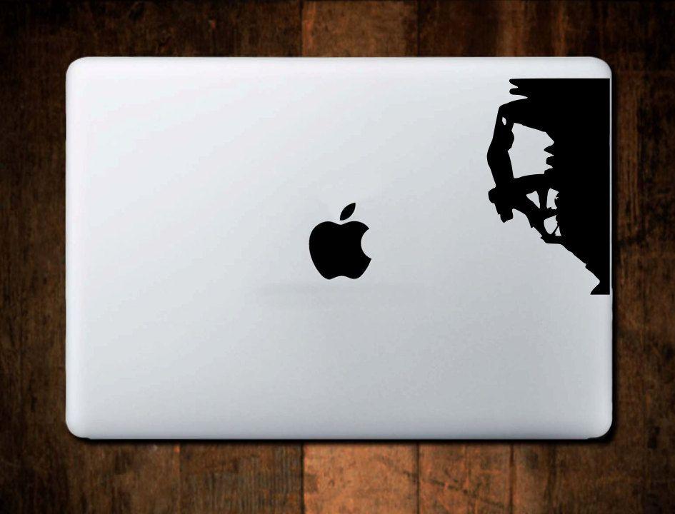 rock climber decal 3 mountain decal laptop decal macbook decal
