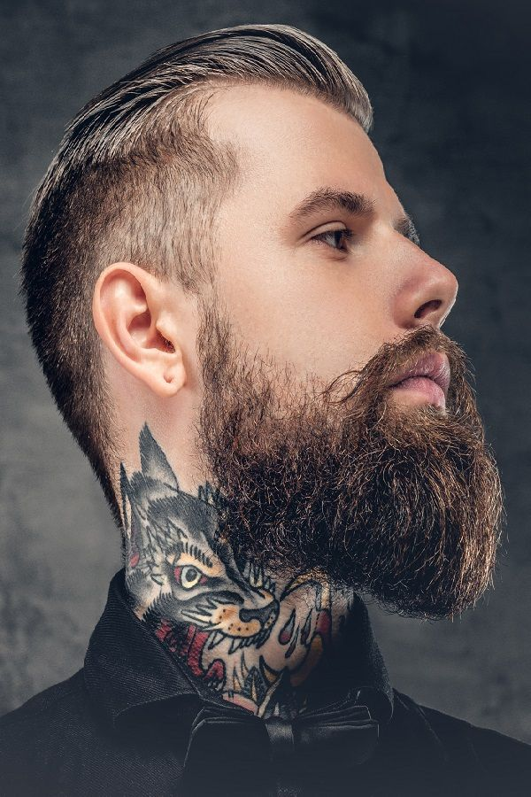 how to find your beard 39 s neckline and trim it professionally barbes beard neckline beard. Black Bedroom Furniture Sets. Home Design Ideas