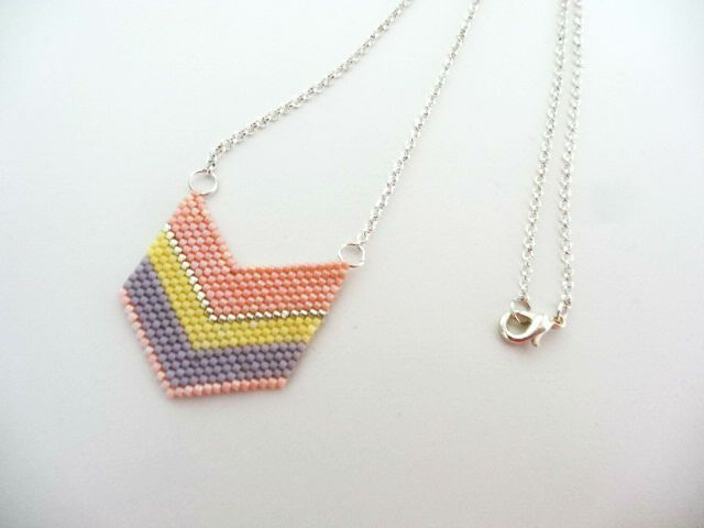 collier perle tissage