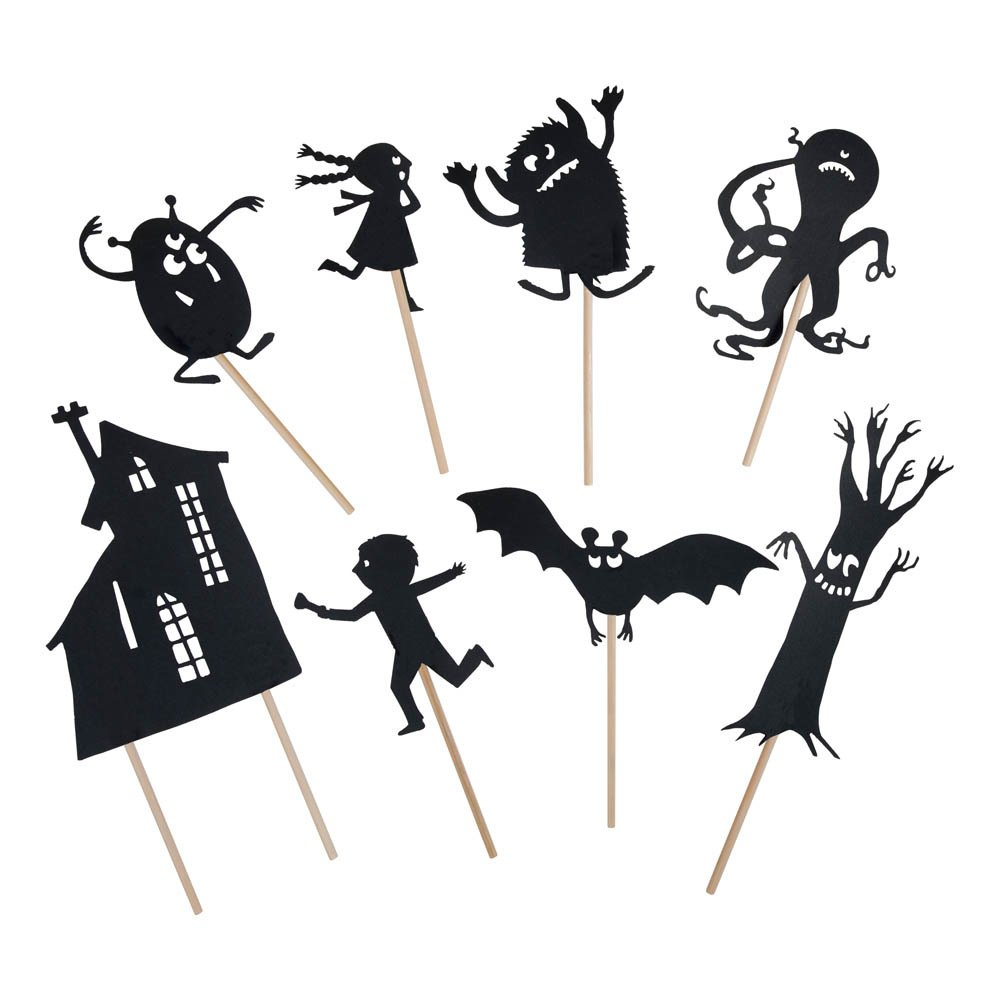 Phosphorescent Scary Shadow Puppets Moulin Roty Toys and Hobbies #deguisementfantomeenfant Phosphorescent Scary Shadow Puppets Moulin Roty Toys and Hobbies #deguisementfantomeenfant