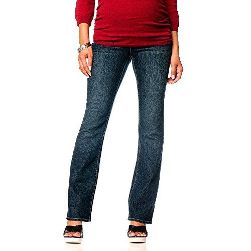 Dark Wash Over Bump Bootcut Maternity Jeans - Comfortable... https ...