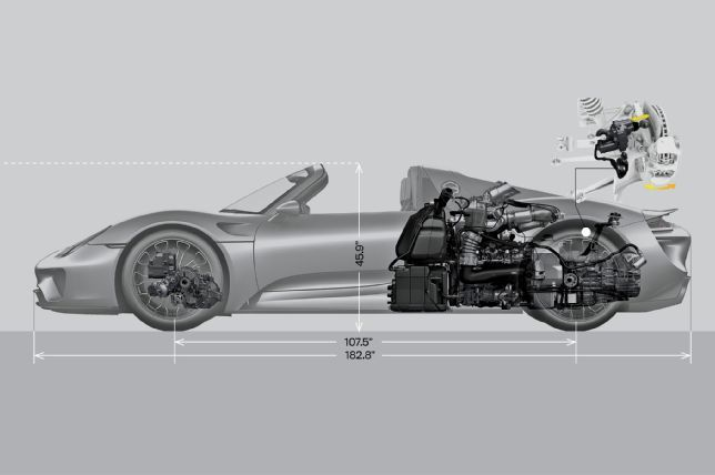 2017 Porsche 918 Spyder Engine Side