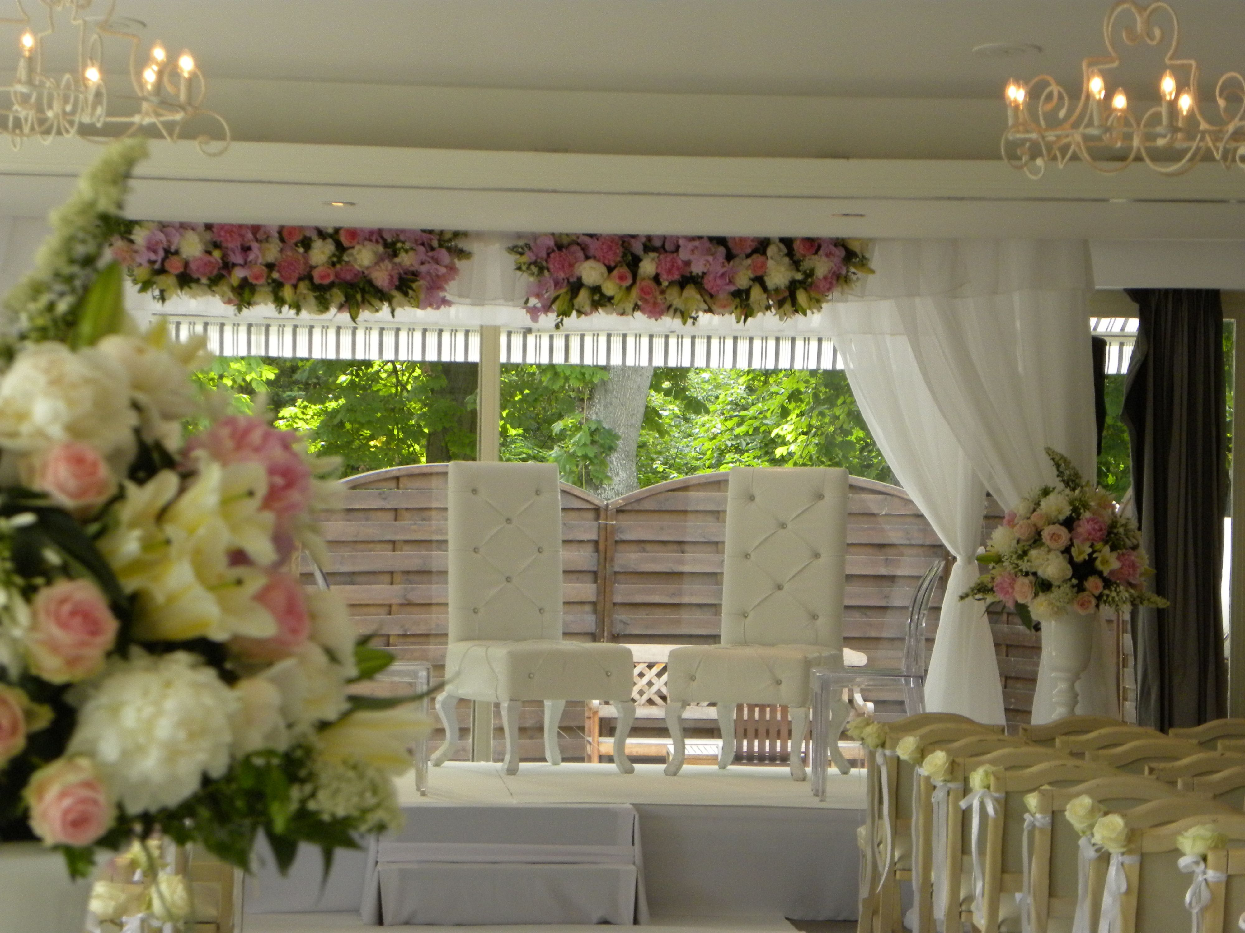 chuppah for the interfaith jewish wedding of cyrielle aurlien houpa lors du mariage mixte - Wedding Planner Mariage Mixte