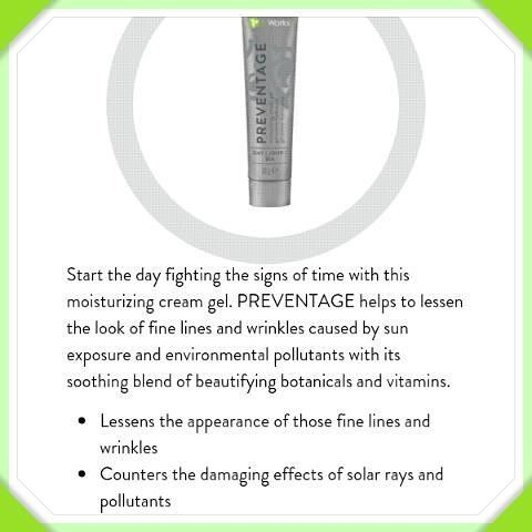 Prevent the appearance of aging, fine lines and wrinkles with PREVENTAGE natural...