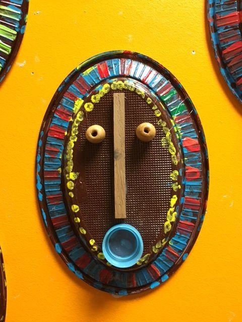 Masques africains ps la classe de teet et marlou id es - Motifs africains maternelle ...