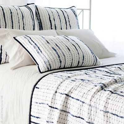 With Pine Cone Hill S Draftsman Cotton Voile Quilted Coverlet