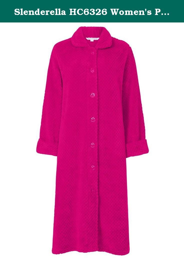 Slenderella HC6326 Women\'s Pink Dressing Gown House Coat… | Robes ...