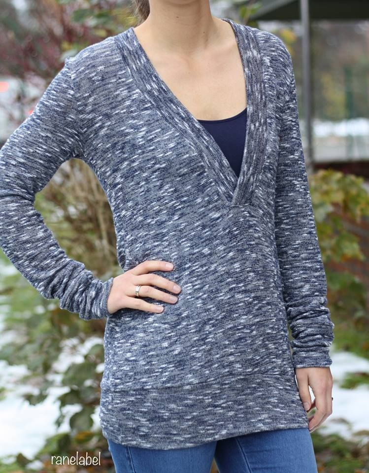 Schnittmuster/Ebook lillesol women No.24 Shirt mit V-Ausschnitt ...