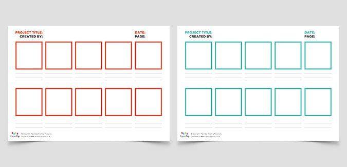 Blank Storyboard Templates Teach Pinterest Storyboard, Short