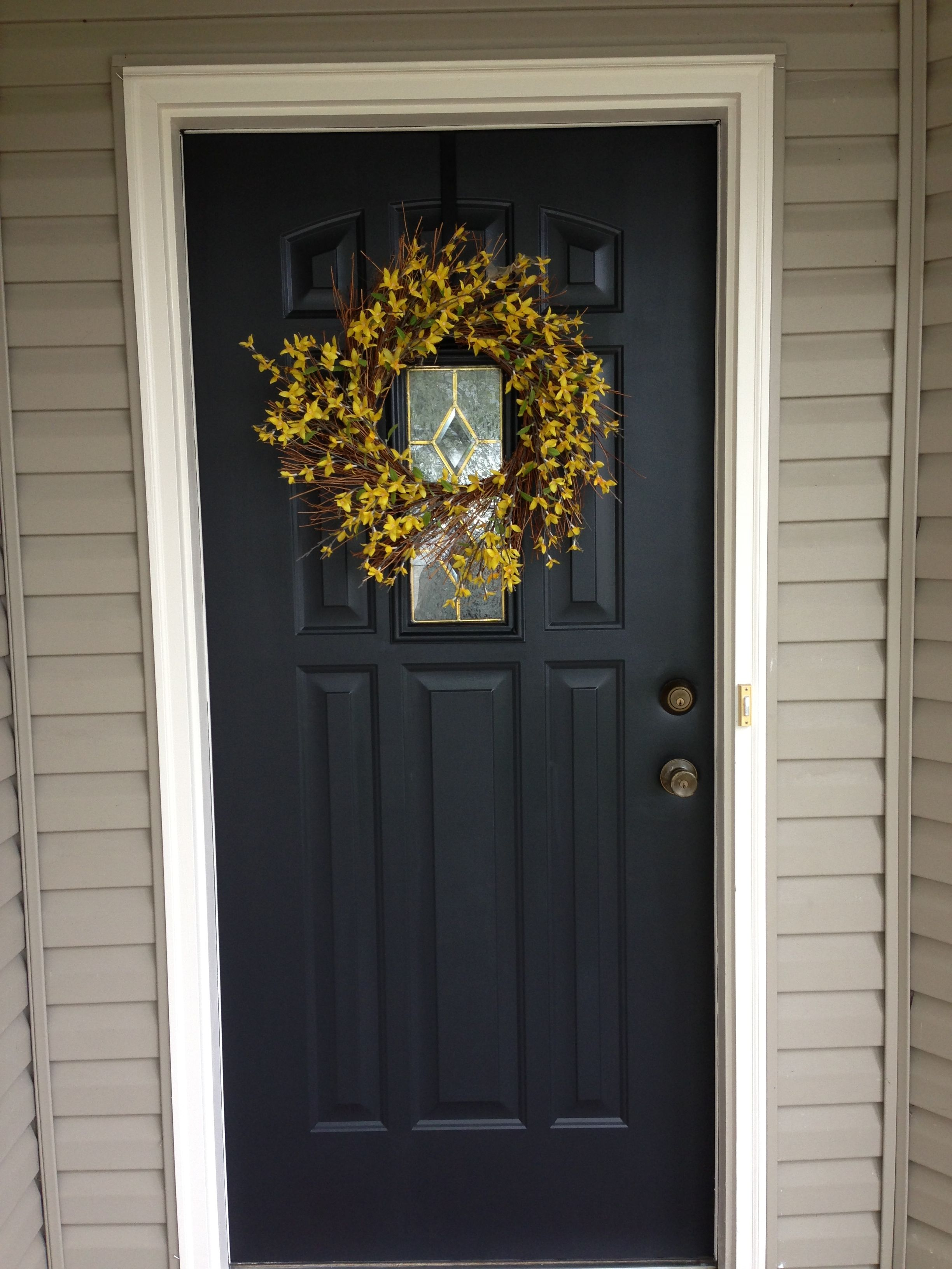 Front Door Painted Black Lowe S Valspar Duramax Dark Kettle