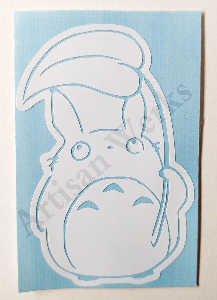 My Neighbor Totoro Chu Totoro Decal Sticker Leaf Manga Anime Car