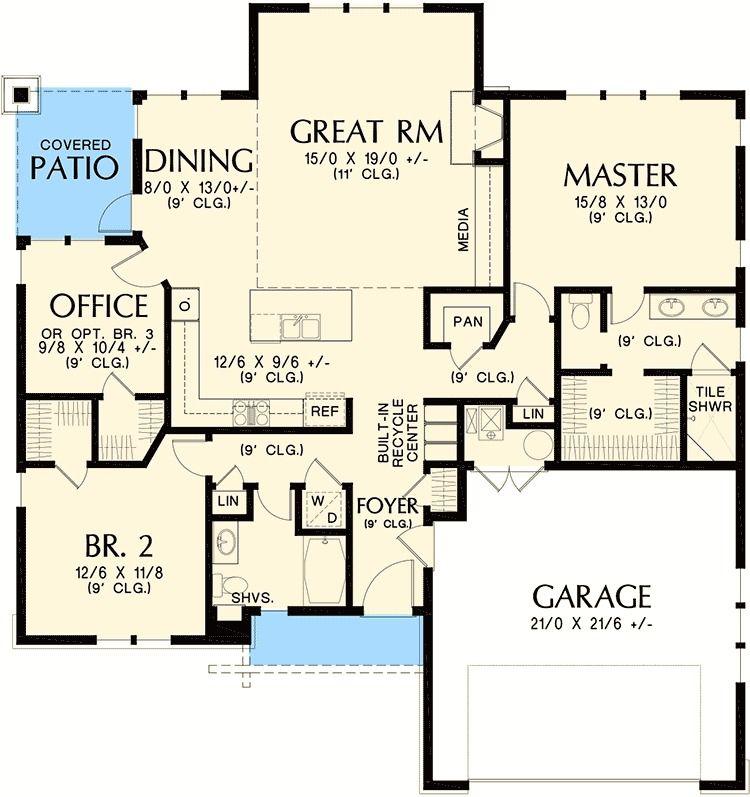 Plan 69521am Rustic Craftsman Home Plan Craftsman House Plans House Plans House Plans One Story